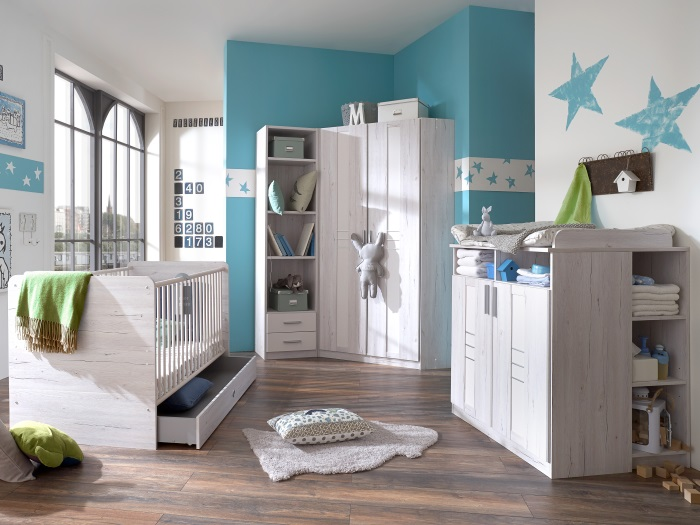 top angebot babyzimmer bela bornholm 7tlg wei eiche komplett set 109791 ebay. Black Bedroom Furniture Sets. Home Design Ideas
