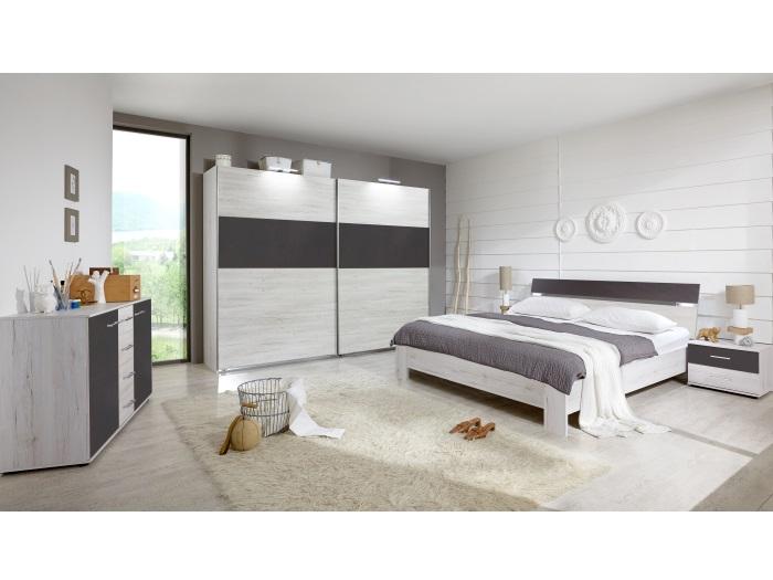schlafzimmer madrid wei eiche lava inklusive kommode schwebet renschrank 109798 ebay. Black Bedroom Furniture Sets. Home Design Ideas