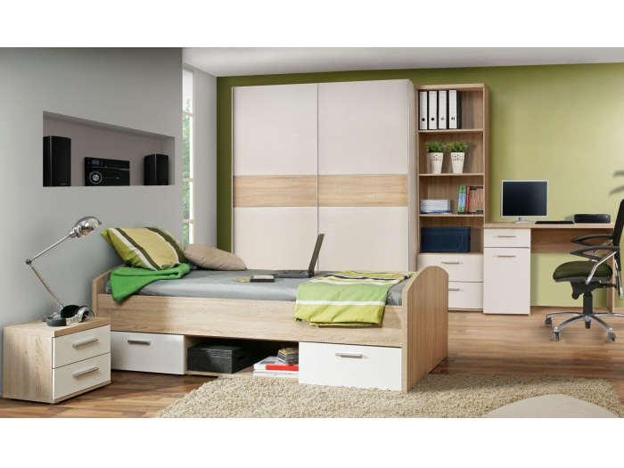 jugendzimmer winnie 5tlg kinderzimmer m bel schwebet renschrank 90er bett 9874 ebay. Black Bedroom Furniture Sets. Home Design Ideas
