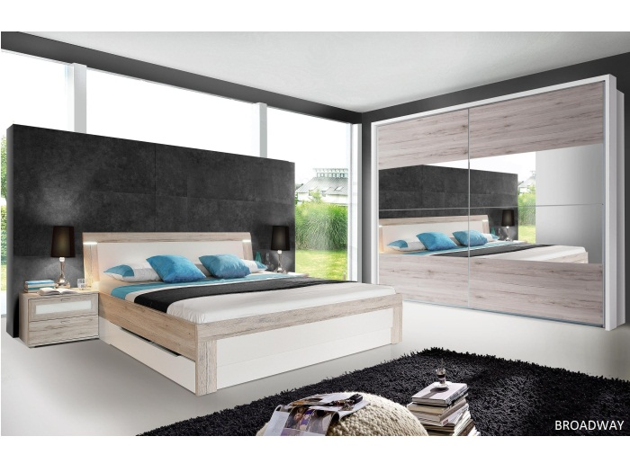 schlafzimmer broadway m bel schwebet renschrank bett mit schubk sten 109879 ebay. Black Bedroom Furniture Sets. Home Design Ideas