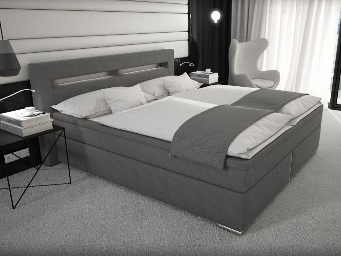 boxspringbett athen 180 cm grau innocent b ware schlafzimmer bett 109914000 ebay. Black Bedroom Furniture Sets. Home Design Ideas