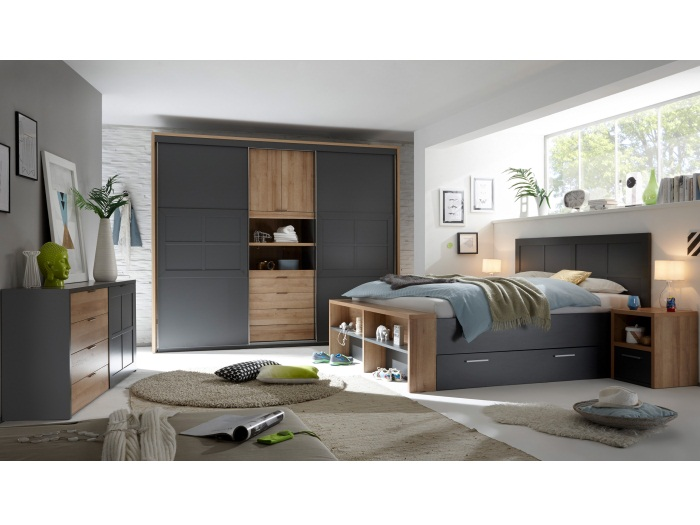 schlafzimmer catania ii mit kommode schwebet renschrank bettanlage schlafen10075 ebay. Black Bedroom Furniture Sets. Home Design Ideas