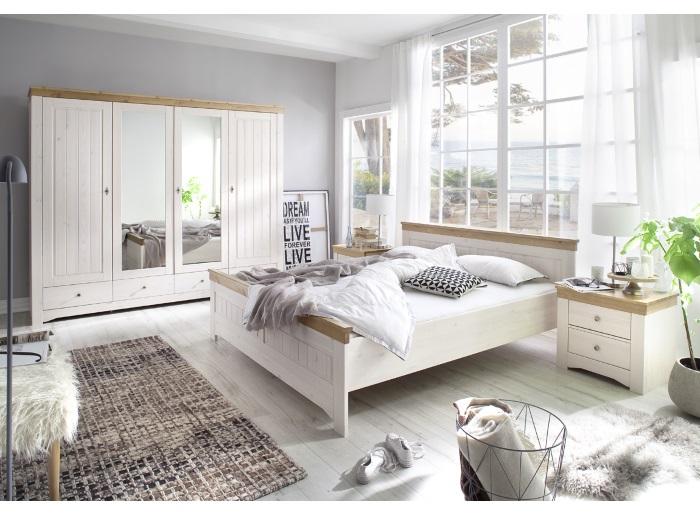 schlafzimmer husum massiv kiefer echtholz komplett schlafzimmerschrank 110172 ebay. Black Bedroom Furniture Sets. Home Design Ideas