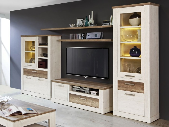 wohnzimmer esszimmer speisezimmer wohnwand duro 110245 ebay. Black Bedroom Furniture Sets. Home Design Ideas