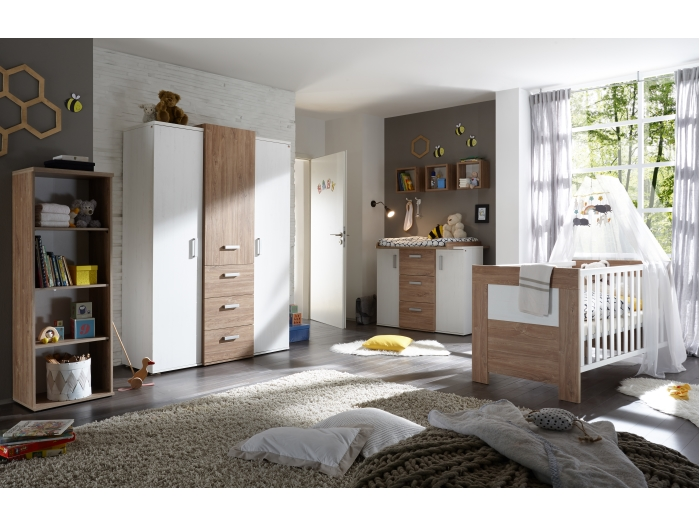 babyzimmer set kimi 6tlg komplettset kinderzimmer komplett. Black Bedroom Furniture Sets. Home Design Ideas