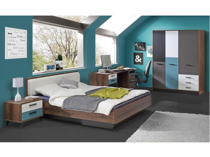 jugendzimmer raven kinderzimmer schrank bett schreibtisch. Black Bedroom Furniture Sets. Home Design Ideas