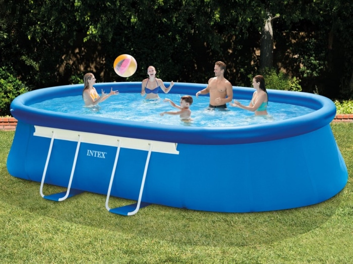 Intex 28194 oval quick up 610 x 366 x 122 cm easy set for Quick up pool oval
