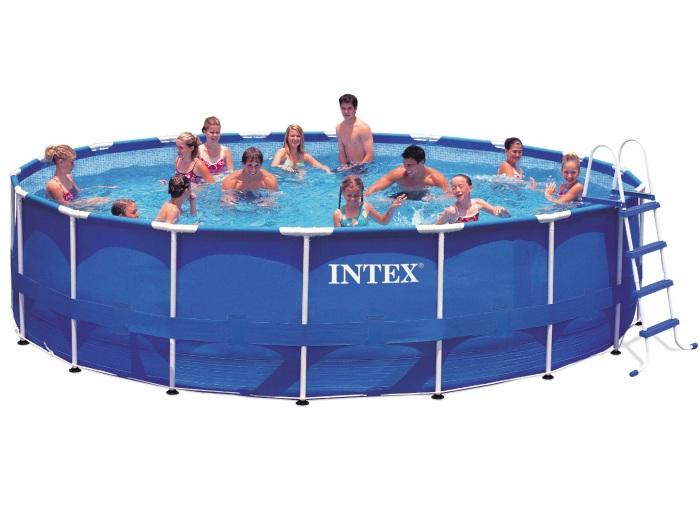 Intex 28252 metal frame 549 x 122 cm stahlrahmen swimming - Liner piscina redonda ...