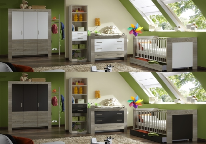 jugendzimmer cariba 5tlg wei eiche komplett kinderzimmer schrank bett 110505 ebay. Black Bedroom Furniture Sets. Home Design Ideas