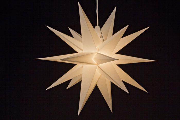 annaberger faltstern adventsstern kabel lampe ebay. Black Bedroom Furniture Sets. Home Design Ideas