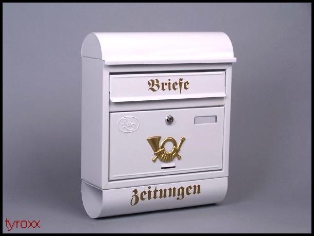 briefkasten mit zeitungsfach modell c farbauswahl bis zu 8 farben w hlbar ebay. Black Bedroom Furniture Sets. Home Design Ideas
