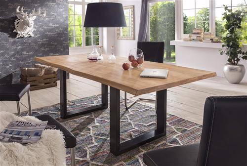 massivholztisch eiche esstisch 180x100 200x100 220x100 holztisch tisch neu ovp ebay. Black Bedroom Furniture Sets. Home Design Ideas