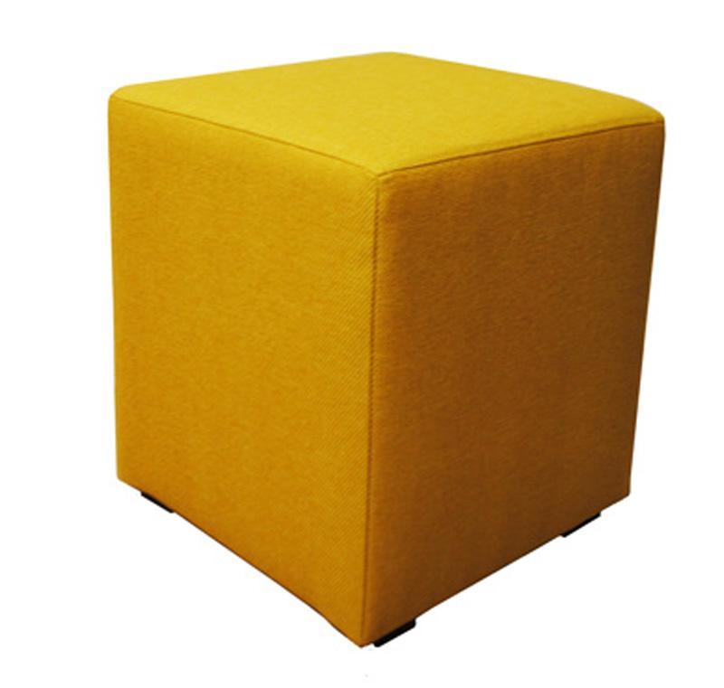 hocker beistelltisch gelb stoff w rfel neu ovp 2521683. Black Bedroom Furniture Sets. Home Design Ideas