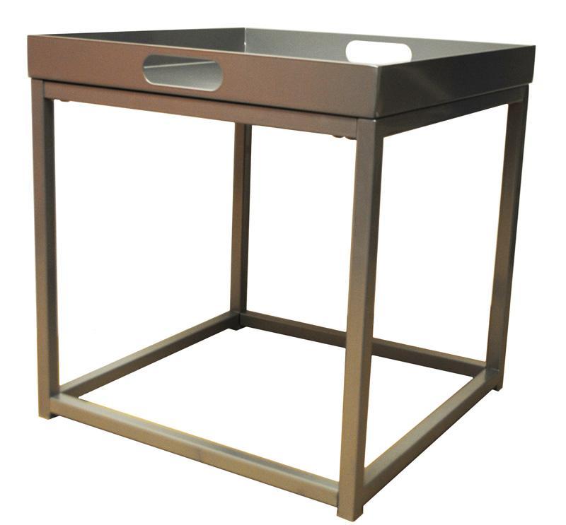 beistelltisch couchtisch tabletttisch tisch tablett silber grau neu 2521704. Black Bedroom Furniture Sets. Home Design Ideas