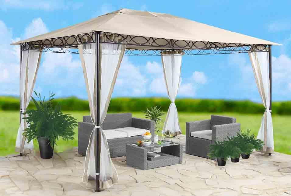 ersatzdach dach pavillon 3x4 m sandfarben pvc beschichtung 7220083. Black Bedroom Furniture Sets. Home Design Ideas
