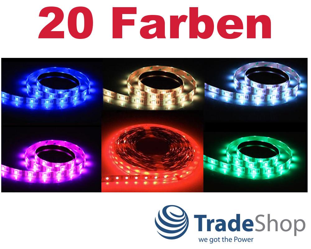 0 5m 3m led lichterkette licht streifen rgb 5050 band mit 5v usb selbstklebend ebay. Black Bedroom Furniture Sets. Home Design Ideas