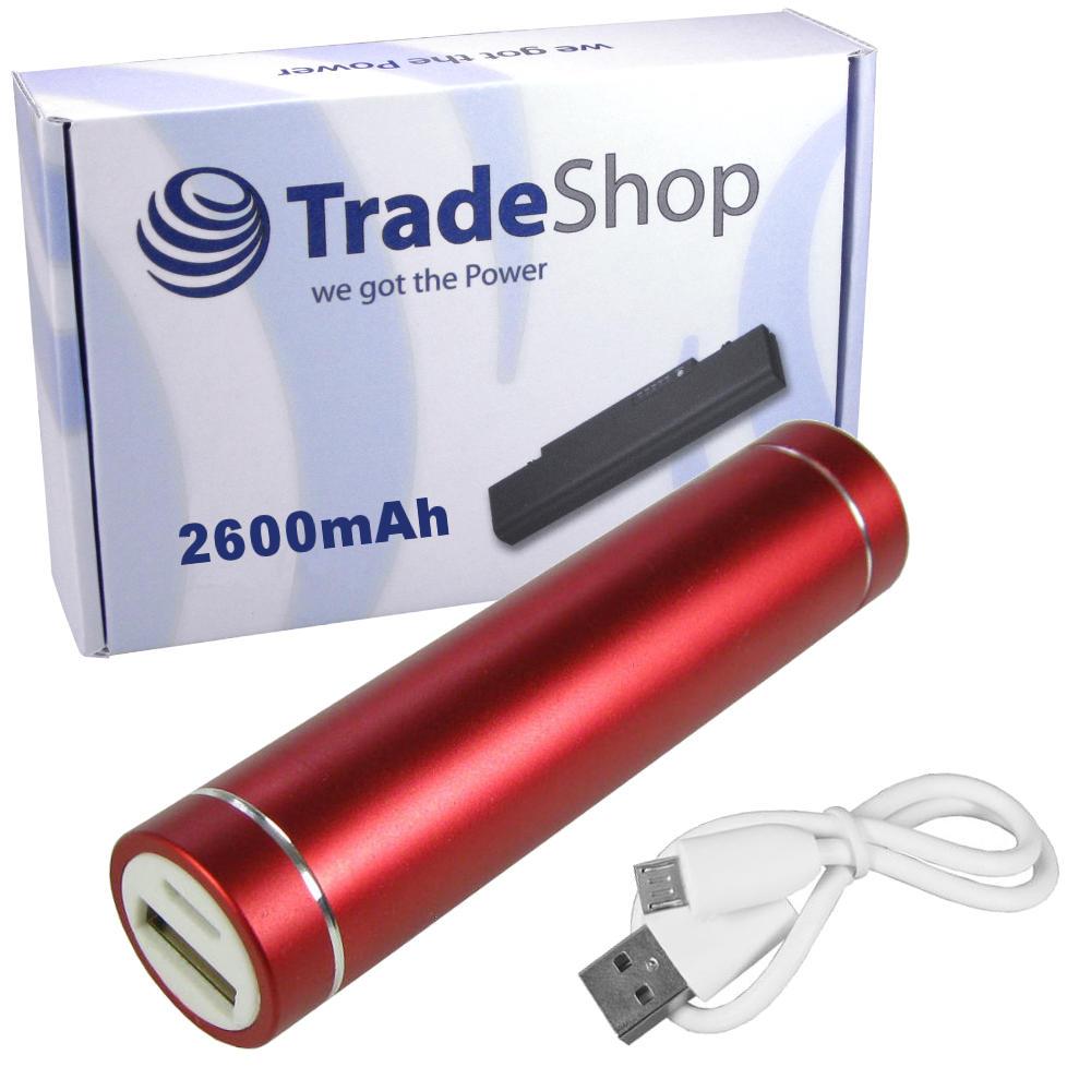 Power Bank 2600mAh Externer USB Akku Ladegerät für doro Liberto 820 Mini 825