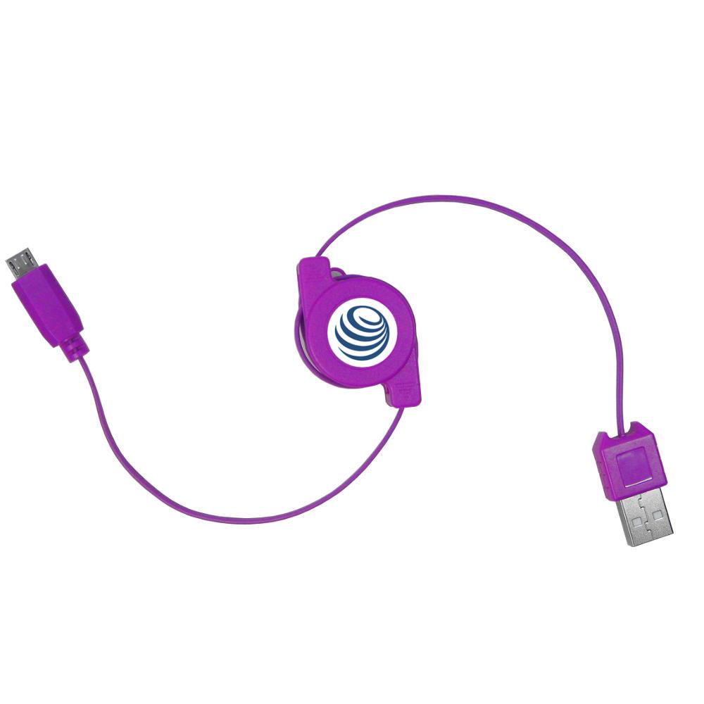 Cable-usb-Cable-de-charge-Extensible-rollkabel-pour-HP-palm-veer-4g-pre2-pre-2-prr3 miniature 2