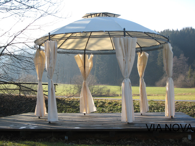 traum garten pavillon california 350 cm durchmesser ebay. Black Bedroom Furniture Sets. Home Design Ideas