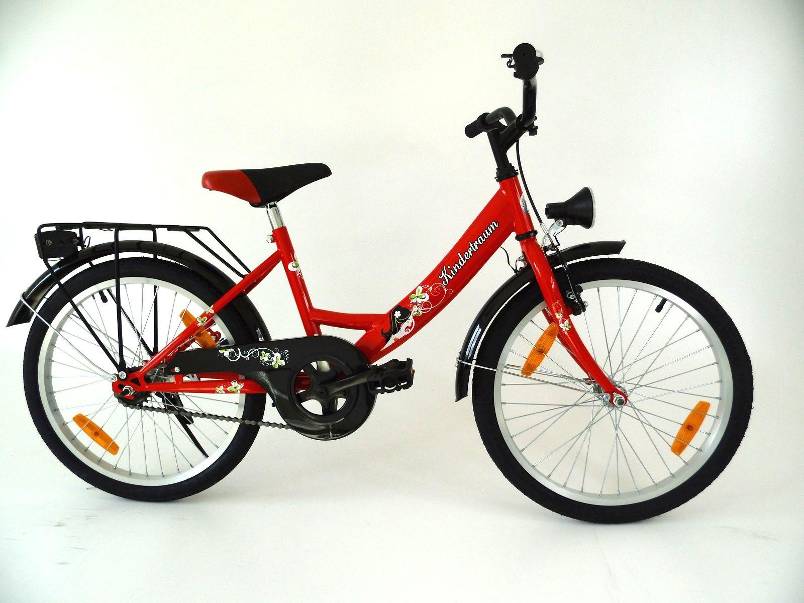 neu 20 zoll kinderfahrrad kinderrad fahrrad rad r cktrittbremse rot m dchen neu ebay. Black Bedroom Furniture Sets. Home Design Ideas