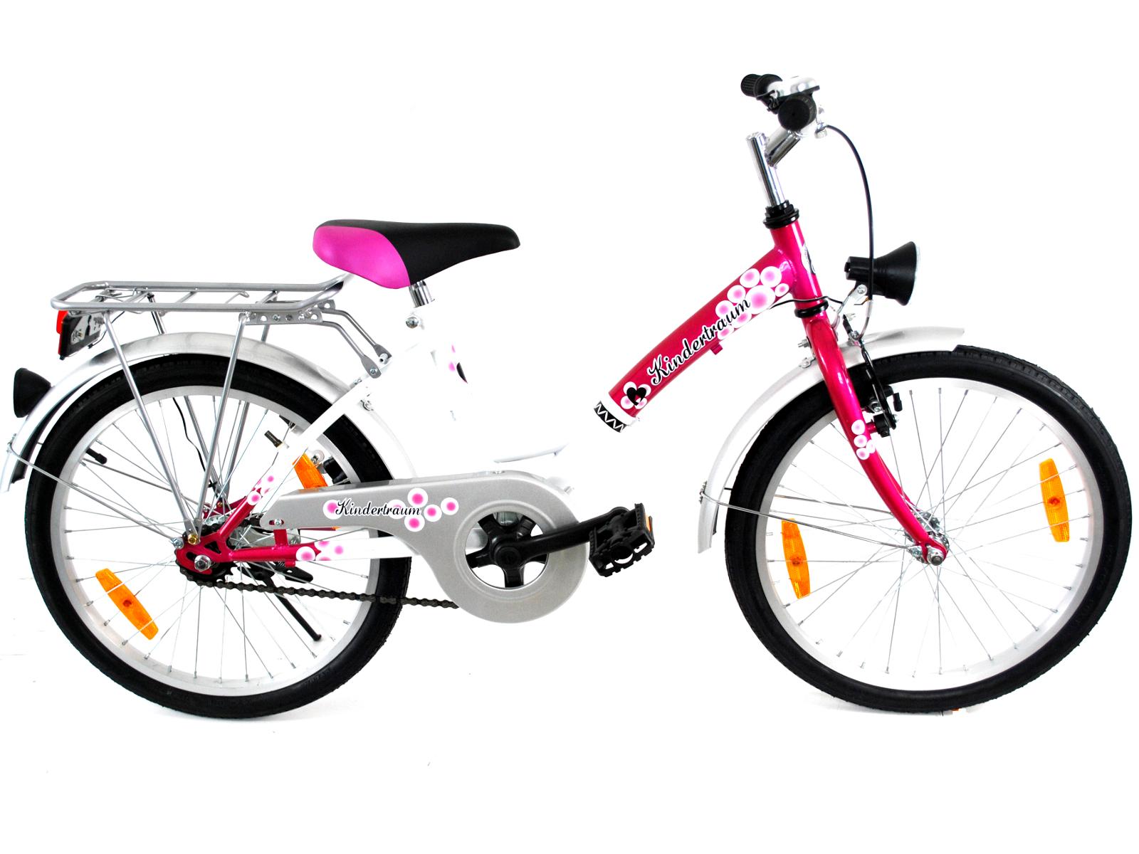 20 zoll kinder fahrrad m dchen jungen kinderrad fahrrad blau pink rot silber neu ebay. Black Bedroom Furniture Sets. Home Design Ideas