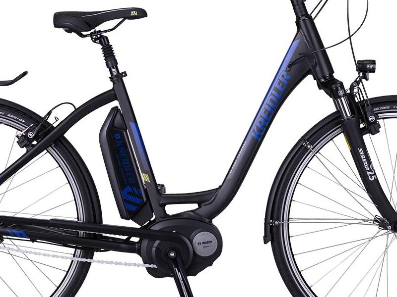 e bike kreidler vitality eco6 schwarz mittelmotor bosch. Black Bedroom Furniture Sets. Home Design Ideas