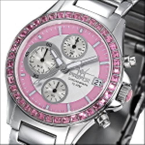 FIREFOX Damenuhr Edelstahl Chronograph Zirkoniasteine FFS177-190 rosa