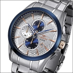 FIREFOX ADVENTURER Herrenuhr Chronograph FFS195-120 silber/blau