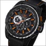 FIREFOX FIRESTORM Herrenuhr Chronograph FFS205-107 SCHWARZ/orange