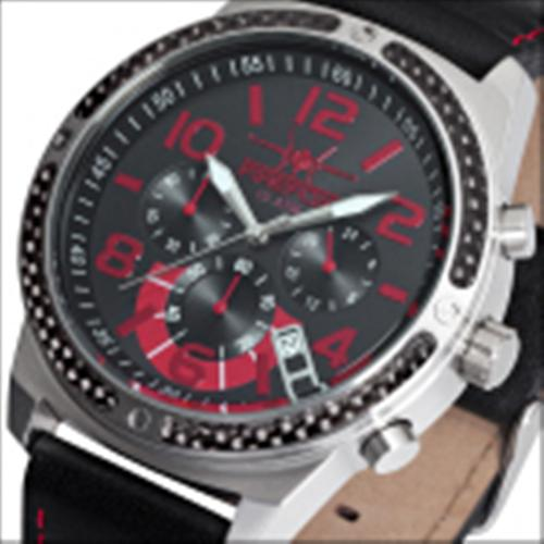 FIREFOX SKYDIVER Chronograph Edelstahl Carbon FFS20-102b schwarz/rot