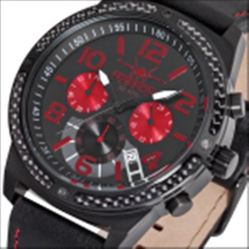 FIREFOX SKYDIVER Edelstahl Carbon Chronograph FFS20-102c SCHWARZ