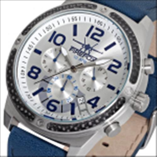 FIREFOX SKYDIVER Chronograph Edelstahl Carbon FFS20-104 silber/blau