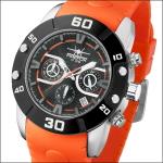 FIREFOX RUBBER THING Herrenuhr Edelstahl Chronograph FFS310-107 orange