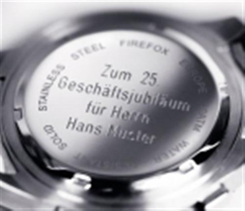 Uhren gravieren individuelle Gravur für eine FIREFOX Herren Damen Uhr