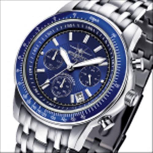 FIREFOX Edelstahl Chronograph AIRLINER FFS04-103b blau