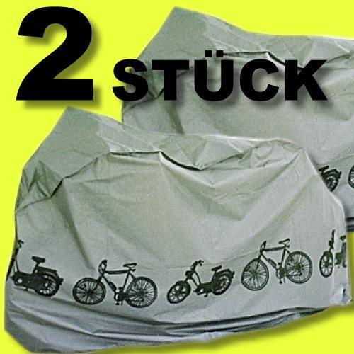 Set-2-Stueck-Fahrradgarage-n-Abdeckhauben-Schutzhauben-Schutzplane-dunkelgrau