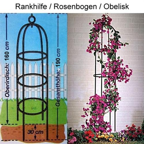 rankhilfe obelisk spalier rosenbogen gesamth he 1 90 cm r kletterpflanzen etc ebay. Black Bedroom Furniture Sets. Home Design Ideas