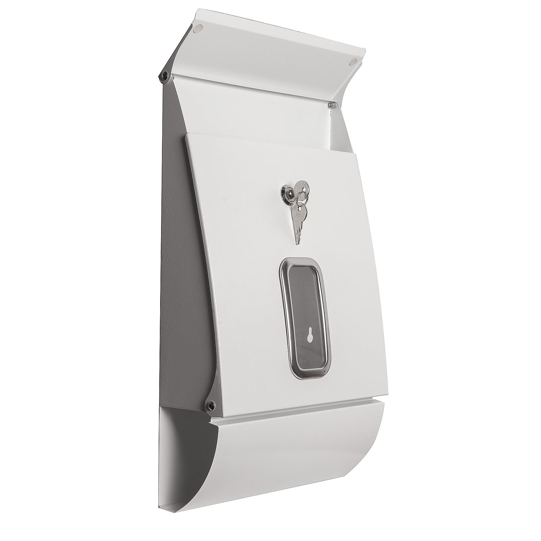 Design Briefkasten Jet Box Weiss Mit Sichtfenster Letter