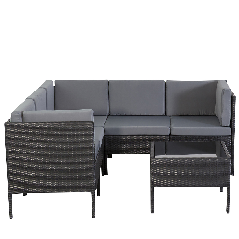 gartenm bel chile schwarz lounge rattan m bel garten. Black Bedroom Furniture Sets. Home Design Ideas