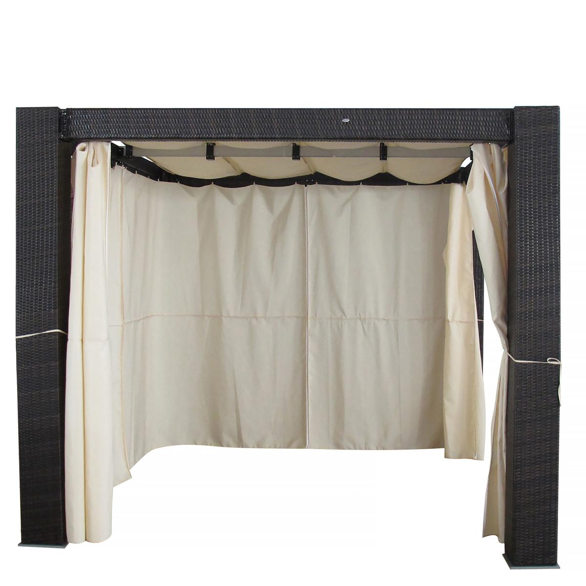 heaven garten rattan gazebo pavillion pergola gartenm bel xxl ebay. Black Bedroom Furniture Sets. Home Design Ideas