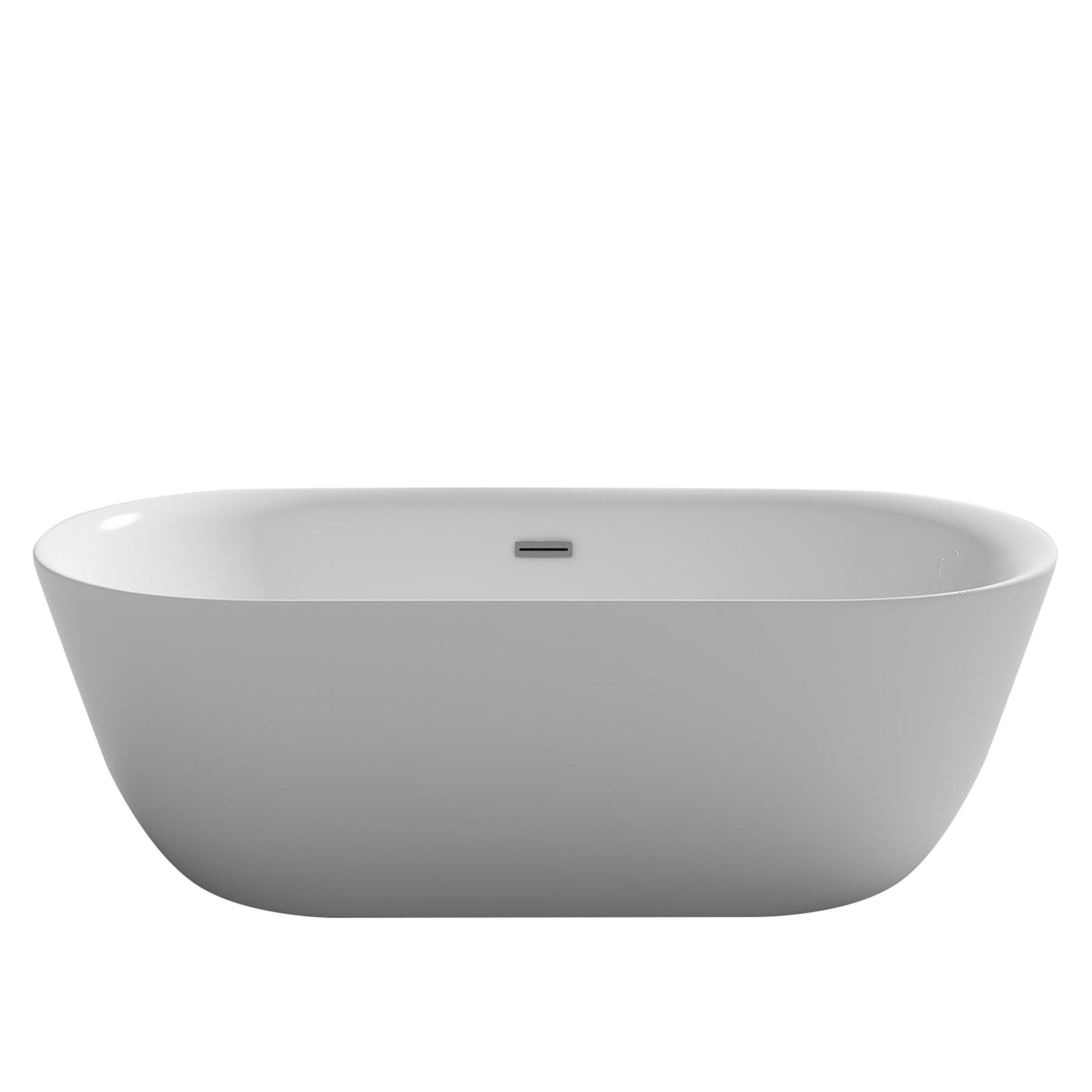 design badewanne lausanne weiss oval acryl bad ausstattung sanit r wanne neu ebay. Black Bedroom Furniture Sets. Home Design Ideas