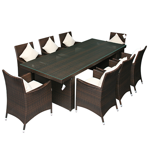 gartenm bel rattan gartenset sitzgruppe palermo braun ebay. Black Bedroom Furniture Sets. Home Design Ideas