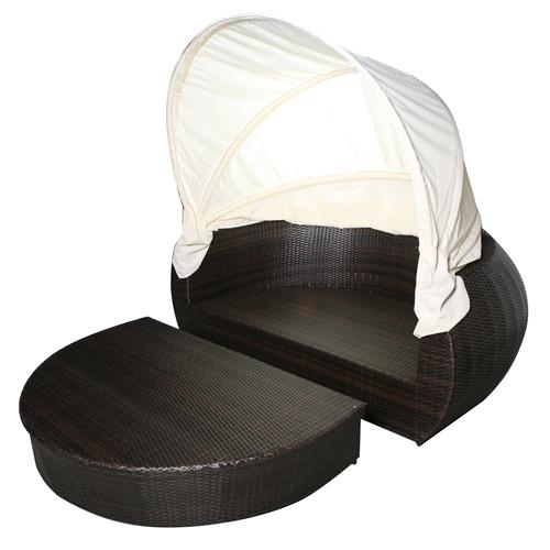 garteninsel sonneninsel liege rattan polyrattan gartenm bel samoa ebay. Black Bedroom Furniture Sets. Home Design Ideas