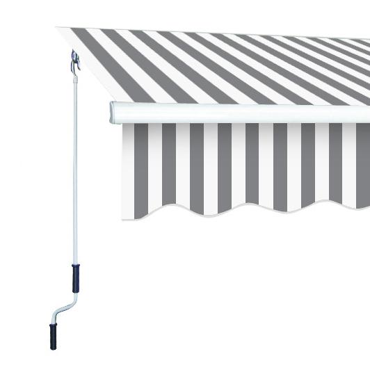 Markise Sunshine 4x2 5 M In Grey White Gelenkarm Garten