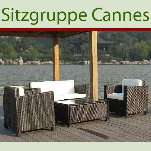 gartenm bel rattan gartenset sitzgruppe modell cannes ebay. Black Bedroom Furniture Sets. Home Design Ideas