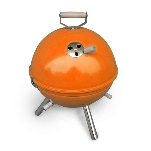 mini grill bbq orange holzkohlegrill kugelgrill ebay. Black Bedroom Furniture Sets. Home Design Ideas