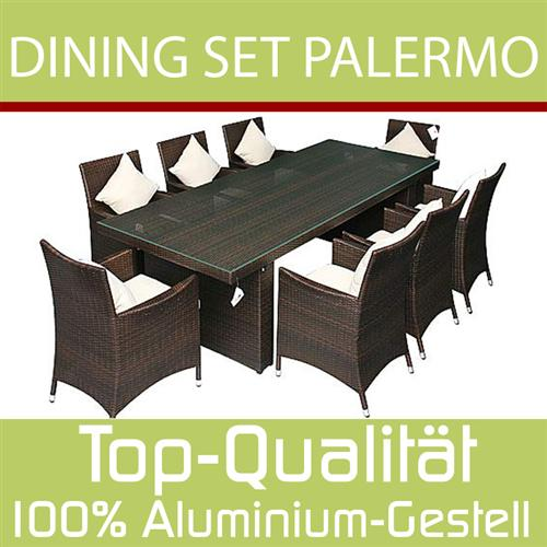 gartenm bel rattan gartenset sitzgruppe palermo xxl ebay. Black Bedroom Furniture Sets. Home Design Ideas