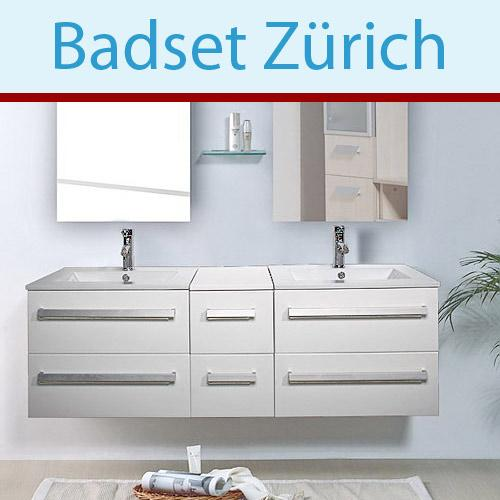 badm bel weiss waschtisch z rich waschbecken set ebay. Black Bedroom Furniture Sets. Home Design Ideas