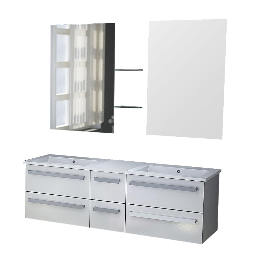 badm bel weiss waschtisch z rich waschbecken set ebay. Black Bedroom Furniture Sets. Home Design Ideas
