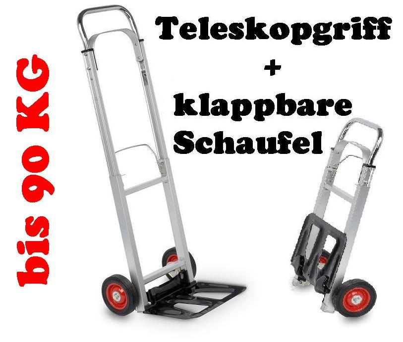 alu teleskop sackkarre transportkarre stapelkarre karre klappbar sehr belastbar ebay. Black Bedroom Furniture Sets. Home Design Ideas